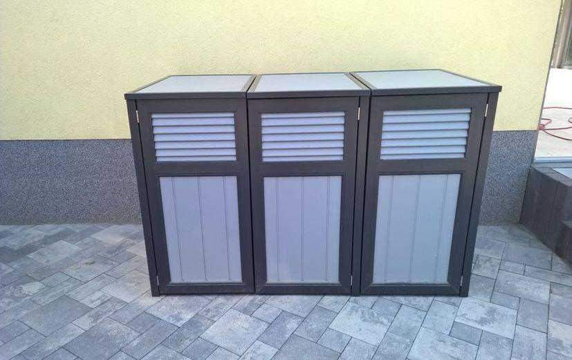 Tonnenbox anthrazit-grau Kunstoff