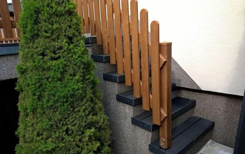 treppengel nder in golden oak aus kunststoff. Black Bedroom Furniture Sets. Home Design Ideas